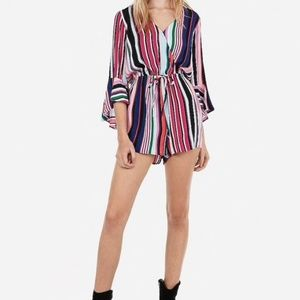 The Limited Multi-color romper M striped NWOT
